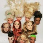 Продам головы Барби, Стейси, Кена