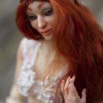 Рыжая эльфийка. Шарнирная кукла.