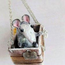 Крыси-путешественницы, ватные елочные игрушки