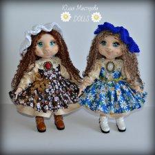 Мои текстильные куколки, которые сшила за 2 года