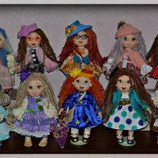 Как и пообещала показать Вам своих новых 10 текстильных девочек