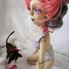 Элис -  текстильная шарнирная куколка