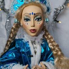 Волшебная Снегурочка, шарнирная интерьерная кукла