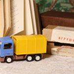 """Игрушка автофургон 302, АО """"Элеконд"""", г. Сарапул, 1993 год, в родной коробке"""
