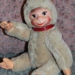 Шикарная старинная обезьянка SCHUCO RUBBER FACE MONKEYS 1950-1955 GERMANY