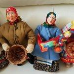 Мини-Коллекция из 4-х кукол Русские бабы 30см