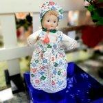 Винтажная тряпичная кукла