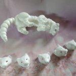 Белый бжд ХОРЕК со сменными мордочками