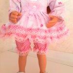 "Розовый кружевной наряд  для Минуш ""Hello Kitty"". Новый!"