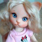 Кошечка Джули, кукла БЖД 16 см Ольги Бабаевой. Цвет персик. Новая! СРОЧНО! Низкая цена одного дня!