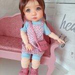 """Мягкий диванчик """"Винтажная роза"""" для кукол ростом от 30 до 60 см. Новый!"""