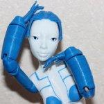 Шарнирная девочка-робот 3d