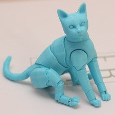 Голубой котик 3D (бесплатная доставка до 10 февраля)