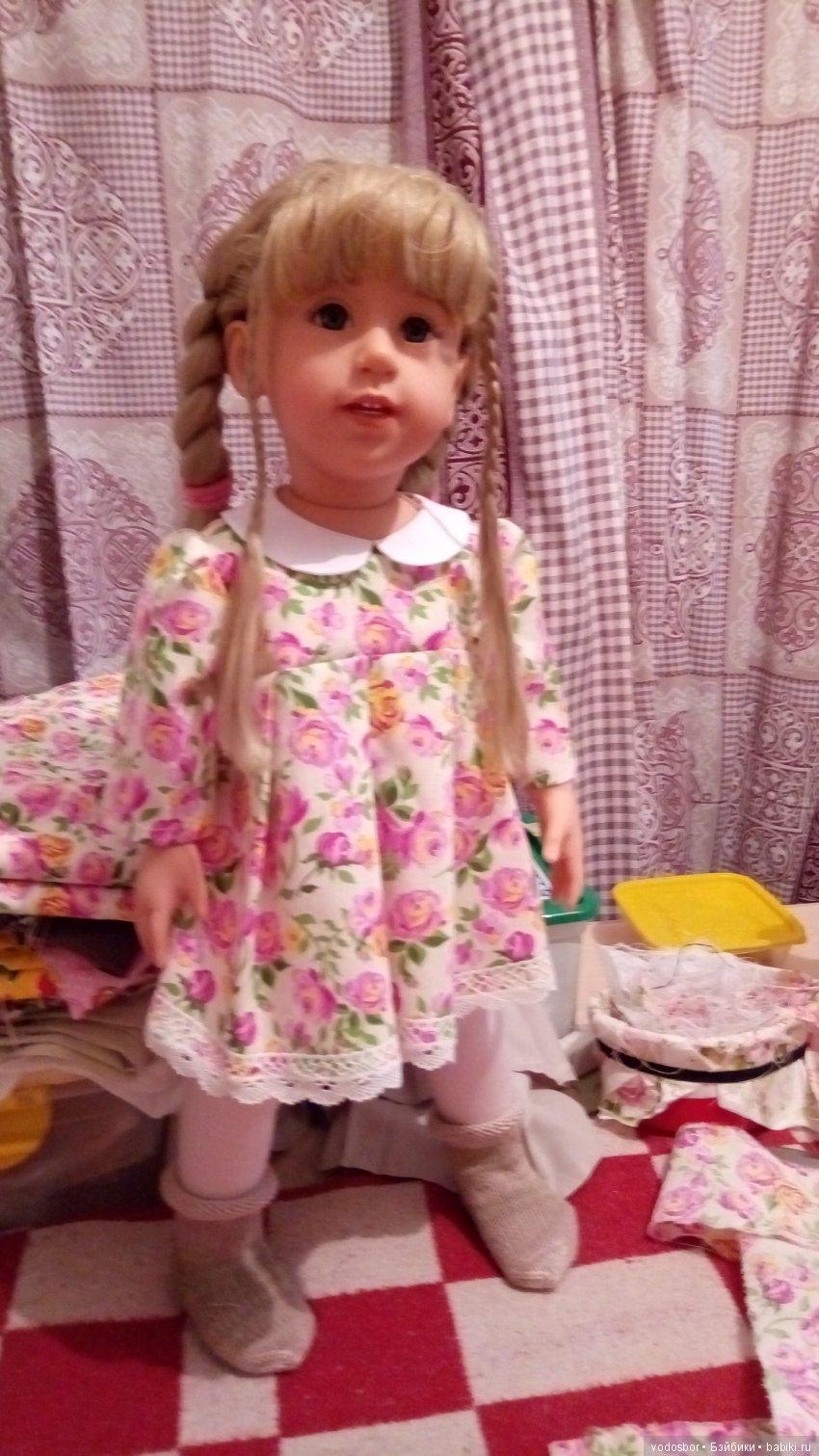 Платье для Оливии из хлопка и натуральных кружев