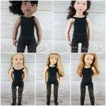 Ажурные колготки для кукол 44-52 см Gotz, Petitcollin, Zwergnaze