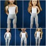 Ажурные колготки для кукол 44-52 см Gotz, Petitcollin, Zwergnaze (серые)