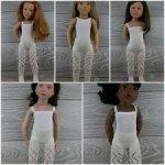 Ажурные колготки для кукол 44-52 см Gotz, Petitcollin, Zwergnaze (белые)