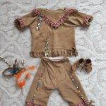 Авторский этнический костюм из нежнейшей замши