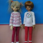 Нарядные кофточки для девочек MSD от Kaye Wiggs и др., на рост 45 см