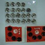 Кнопки пришивные для одежды, металл