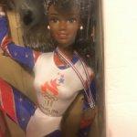 Barbie AA Olimpic Gymnast, шарнирные коленки и локти, мулатка, афроамериканка.