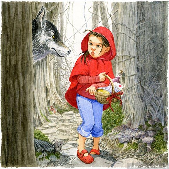 картинка красная шапочка и серая шубка острые зубки самом шкиву должна