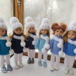 Вязаный комплект из 4 предметов для кукол Паола Рейна