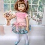 Вязаное платье для little darling(при покупке двух платьев скидка)
