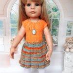 Платье для кукол Готц 50 см