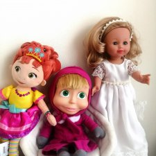 Шок цена! Лот игрушек! Невеста от Arias+Неси-Фенси от Disney+Маша от симба!сегодня - 1200 руб.