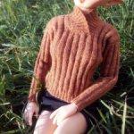 Мягкий свитер для MSD с воротником