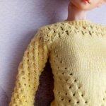 Желтый свитер из бамбука на 1/4 мсд