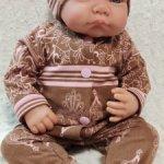Слип и шапочка для кукол 41-45 см