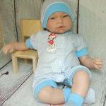 Песочник, шапочка, пинетки для реборнов и аналогичных кукол 41-47 см
