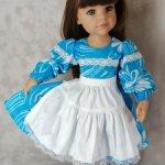 Платье для  Готц 50 со съемным  фартучком