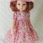 Платье со шляпкой для Паолы Рейна и аналогичных куколок