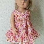 Платье для куклы Готц Little Kidz и аналогичных куколок
