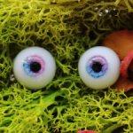 Глаза для кукол 14/7 мм с рельефной радужкой.
