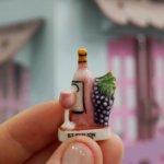 Вина Франции. Французская фарфоровая миниатюра.