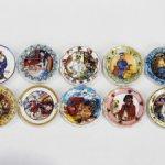 Декоративные тарелочки. Французская фарфоровая миниатюра.