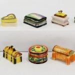 Шкатулочки. Французская фарфоровая миниатюра.