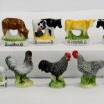Животные. Ферма. Французская фарфоровая миниатюра.