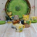 """Декоративный чайный сервиз """"Cat Family"""""""