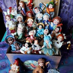 Ёлочные ватные игрушки Ирины Белюковой
