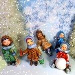 """Авторские ёлочные игрушки. Набор """"Лепим Снеговика""""."""