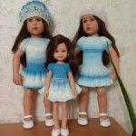 3 платья для кукол за 800 рублей