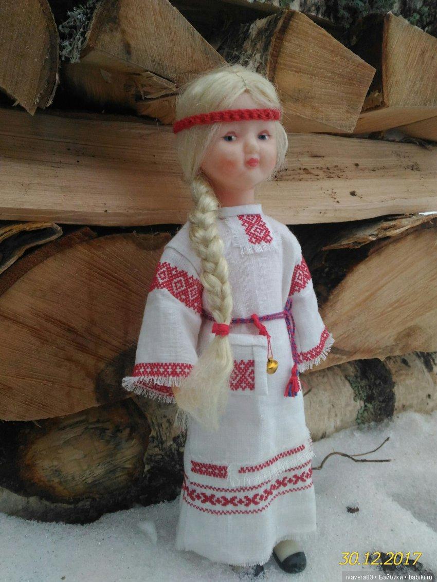 Славянская рубаха на куклу 30 см.