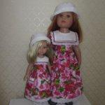 Платье для куклы Готц и ей подобным.
