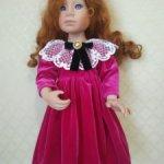 Бархатное платье для куклы Крюгер