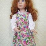 Сарафан с блузкой для куклы Крюгер